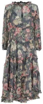Zimmermann Iris Ruffle Trim Dress