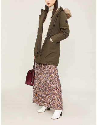 MICHAEL Michael Kors Faux fur-trim hooded parka coat