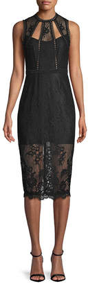 Alexis Sheer Lace Cut-Out Dress