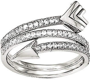 QVC Sterling Wrap Around Crystal Arrow Ring