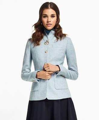 Brooks Brothers Petite Herringbone Wool Jacket