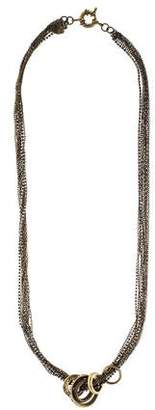Giles & Brother Crystal African Rings 10 Strand Necklace