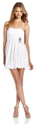My Michelle Sequin Hearts by Women?s Strapless Wire-Hem Dress with Jewel