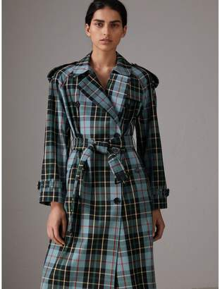 Burberry Tartan Cotton Gabardine Trench Coat