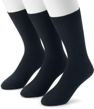 Dockers Men's 3-pack Lightweight Ribbed Crew Socks