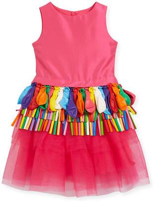 Charabia Sleeveless Tulle Balloon Dress, Size 5-8