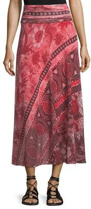 Fuzzi Stamp Patchwork Long Skirt