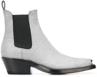 Calvin Klein glitter Western boots