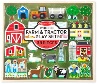 Melissa & Doug Wooden Farm & Tractor Play Set