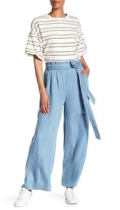 CODEXMODE Wide Leg Paper Bag Pants