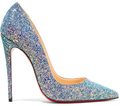 Christian Louboutin - So Kate Dragonfly 120 Glittered Leather Pumps - Blue