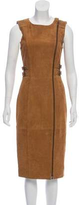 Philosophy di Alberta Ferretti Suede Midi Dress