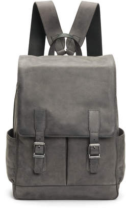 Frye Men's Oliver Leather Buckle Backpack, Slate