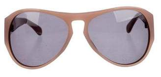 Dries Van Noten Aviator Tinted Sunglasses