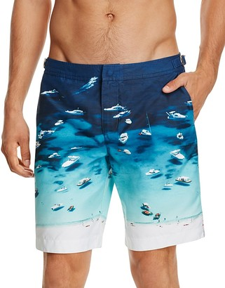 Orlebar Brown Dane II Photographic Boat Party Board Shorts $345 thestylecure.com