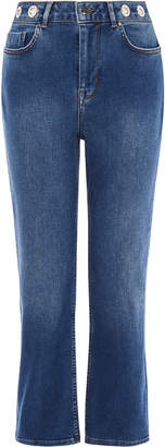 Karen Millen Distressed Straight-Leg Jeans