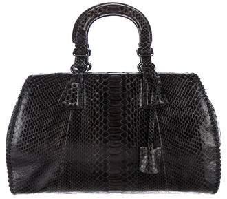 Giorgio Armani Python Handle Bag