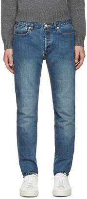 A.P.C. Indigo Petit New Standard Jeans $170 thestylecure.com