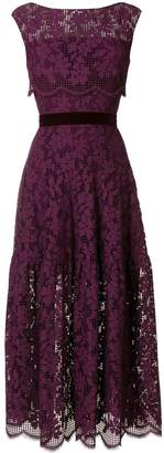 Talbot Runhof floral lace dress