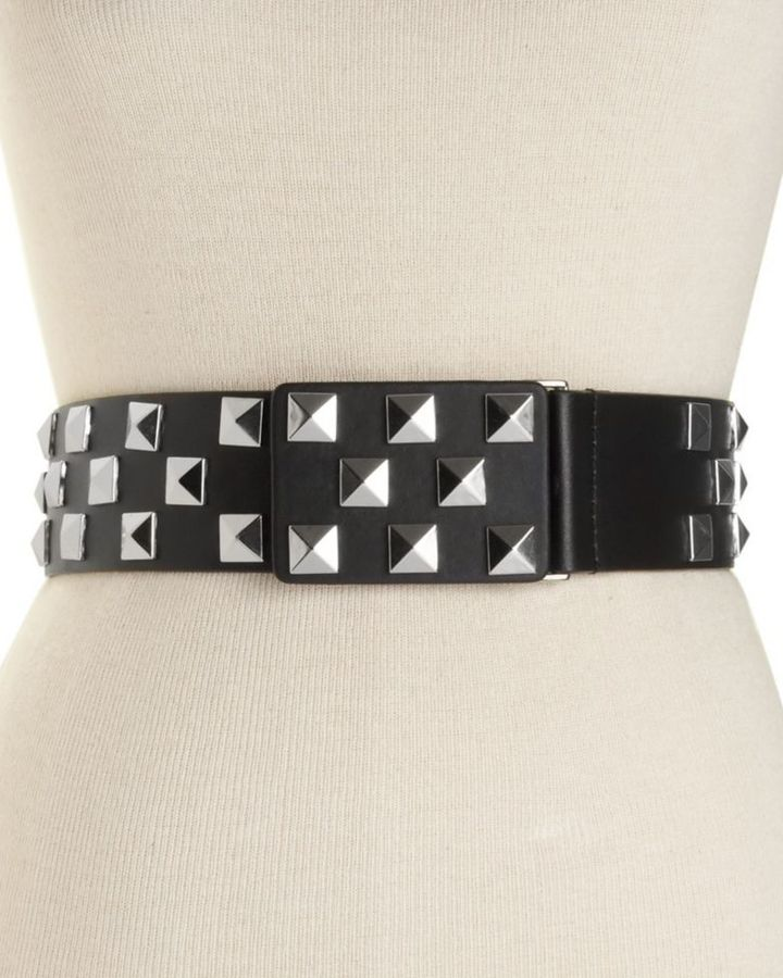 Calvin Klein Leather Belt with Studs