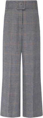 Veronica Beard Dexter Linen And Cotton Blend Trouser