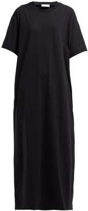 Raey Jersey Maxi T Shirt Dress - Womens - Black