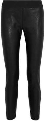 Stella McCartney Faux-Leather-Paneled Stretch-Knit Leggings