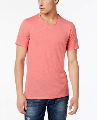 GUESS Men's Raw Edge V-Neck T-Shirt