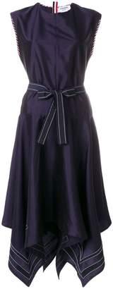 Thom Browne Scarf-hemmed Silk Dress