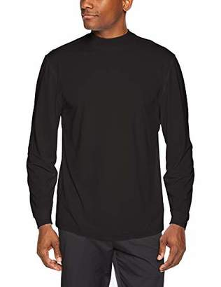 PGA TOUR Men's M360 Solid Ventilated Mock Neck Pullover