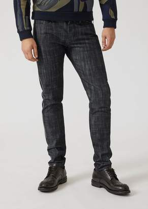 Emporio Armani Slim Fit 12-Oz Denim Jeans With Selvedge