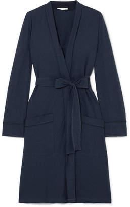 f9b3d134f0 Skin - Pima Cotton-jersey Robe - Navy