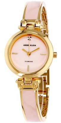 Anne Klein Women's Classic Mother Of Pearl Dial Stainless Steel Watch AK-2694PKGB