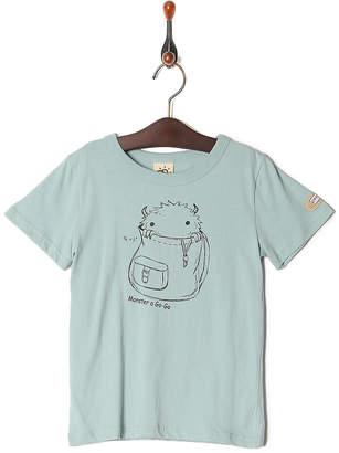 Kid's Pajama & More ブルーグレー プリント半袖Tシャツ