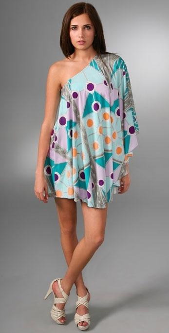 Mara Hoffman Double Layer Aysmmetrical Swing Dress