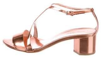 Narciso Rodriguez Metallic T-Strap Sandals