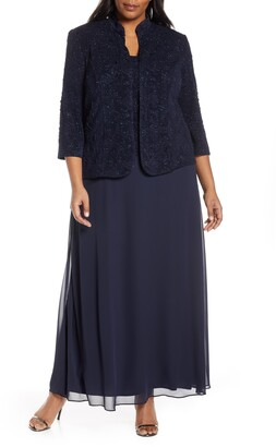 e1fd157b288 Alex Evenings Lace   Chiffon Gown with Jacket