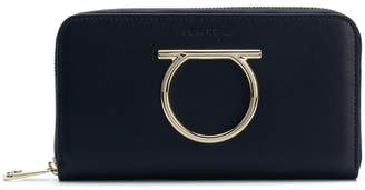 Salvatore Ferragamo Gancini zip around wallet