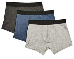 Mens 3 Pack Marl Trunks