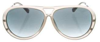 Prabal Gurung x Linda Farrow Gradient Aviator Sunglasses