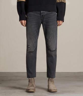 AllSaints Baker Sid Straight Jeans, Black