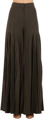Jacquemus High Waist Wide Leg Stretch Jersey Pants