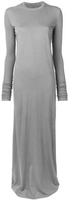 Rick Owens long sleeve jersey gown