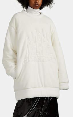 MM6 MAISON MARGIELA Women's Logo Padded Cotton Oversized Sweatshirt - White