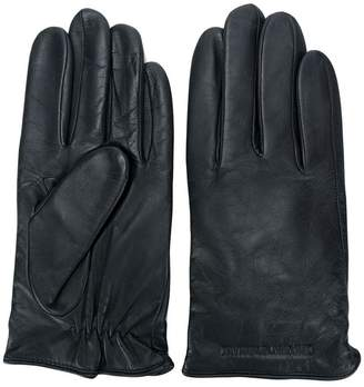 Emporio Armani leather gloves