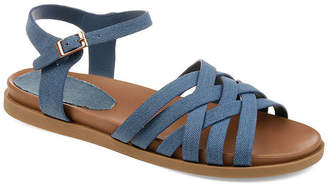 Journee Collection Womens Kimmie Ankle Strap Flat Sandals