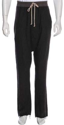 Rick Owens Gleam Wool-Blend Herringbone Pants