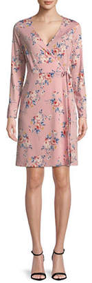 LORI MICHAELS Floral Faux Wrap Dress