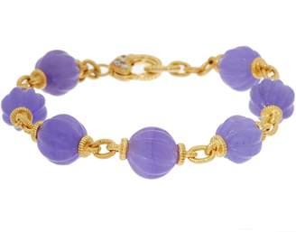 """Judith Ripka 14K Clad_Fluted Jade Bead 7-1/4"""" Bracelet"""