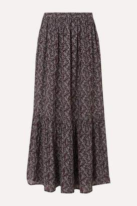Vanessa Bruno Gilson Printed Gauze Maxi Skirt